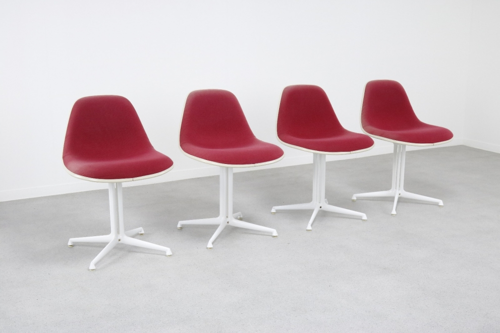 Charles & Ray Eames Hopsak La Fonda dining chairs Vitra 1960s - Mid century fiberglass chair 5