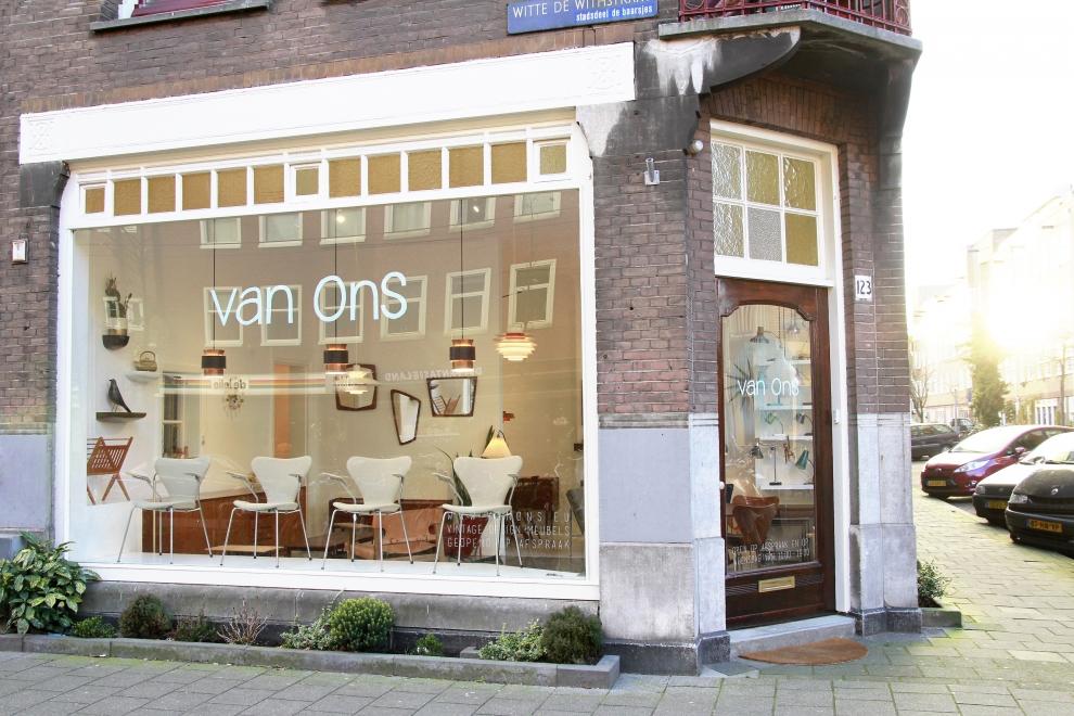 Winkel VAN ONS mid century modern design