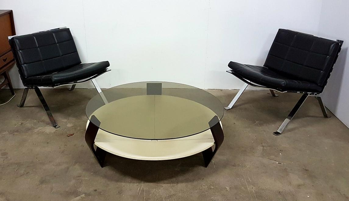 Retrospect - round vintage salontafel space age coffee table pastoe 1960s 1970s (4)
