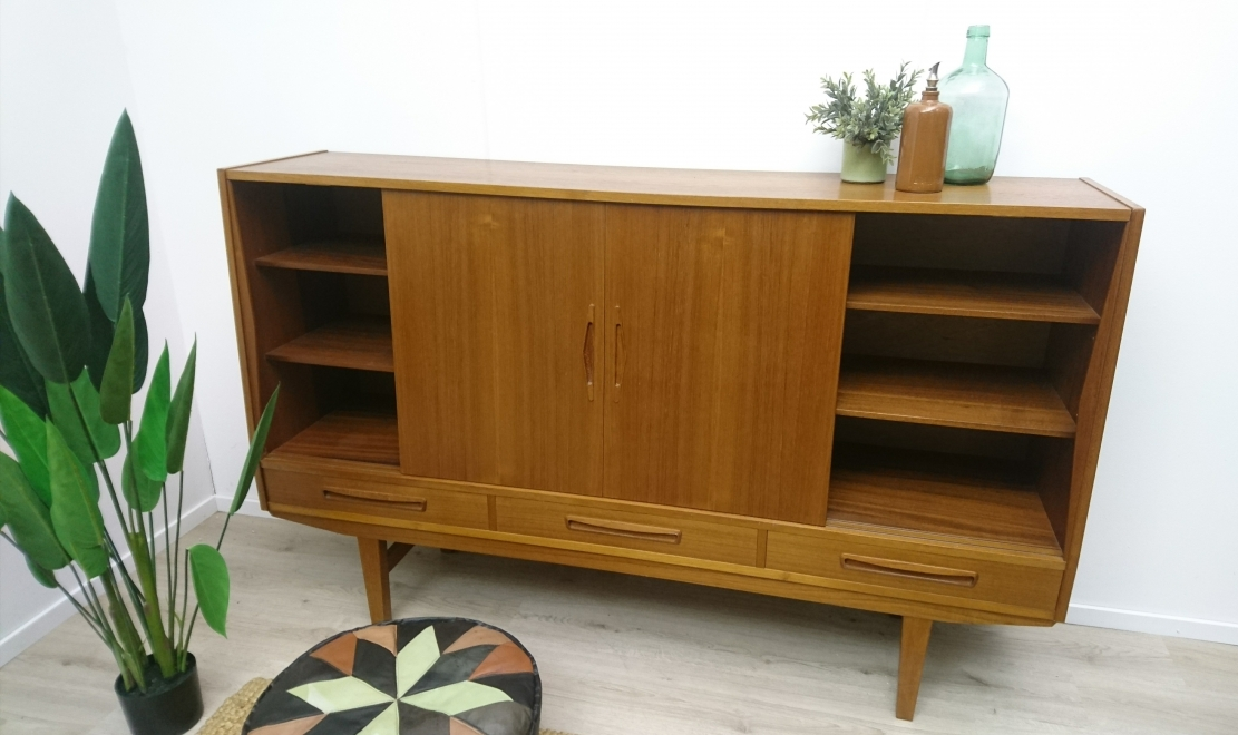 Hal 69 - Deens design vintage highboard jaren 70